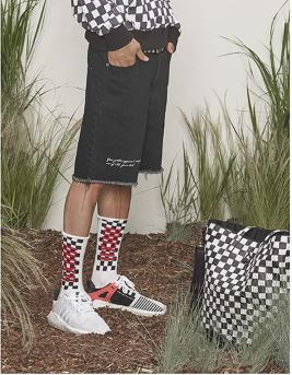 NONAGON CHECKERBOARD SOCKS